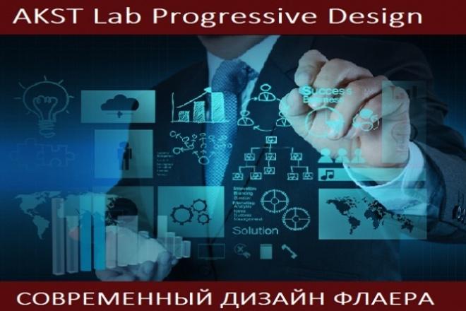 Сделаем дизайн флаера в 2 вариантах 1 - kwork.ru