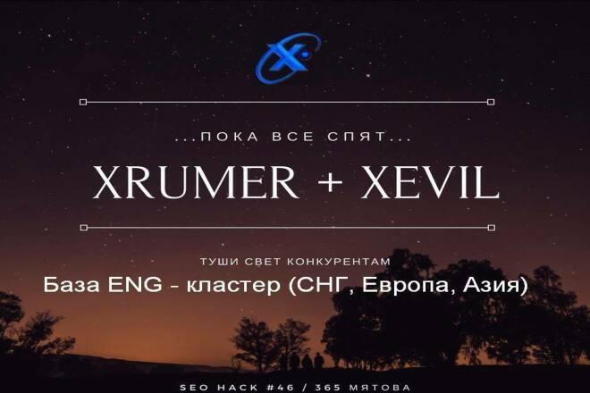 Прогон лицензионным xrumer по ENG базе Европа, Азия 698991 ресурс 1 - kwork.ru
