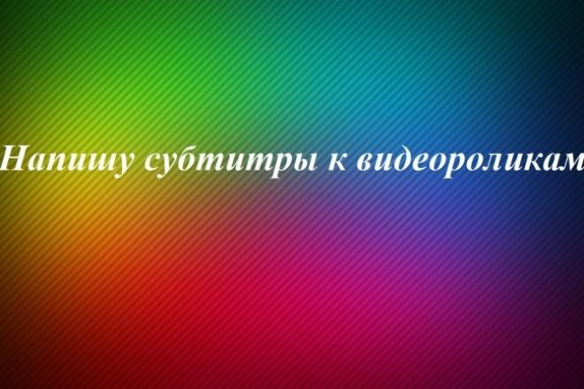 Напишу субтитры к видеороликам 1 - kwork.ru