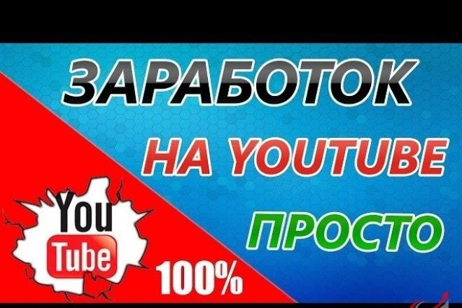 Как зарабатывать на Youtube от 60000 в месяц, не снимая своего видео 1 - kwork.ru