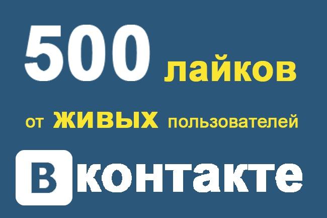 Накручу 500 лайков от живых людей 1 - kwork.ru