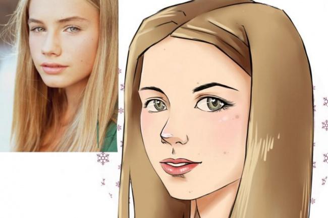 Нарисую Вас в стиле аниме или комикс 1 - kwork.ru