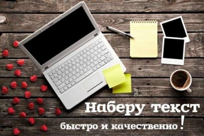 Наберу текстНабор текста<br>Здравствуйте! Наберу текст со сканов и фотографий. Берусь как за напечатанный текст, так и рукописный<br>