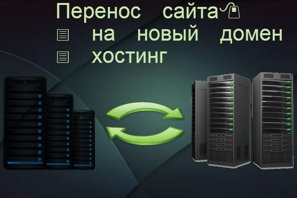 Перенос сайта на новый хостинг, домен 1 - kwork.ru