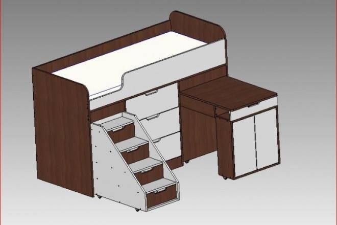 Проектирую мебель для самостоятельной сборкиМебель и дизайн интерьера<br>Выполняю 3Д чертежи мебели по вашим эскизам, фотографиям. Проекты делаю в программе Bcad. От меня Вы получаете: - Внешний вид. - Перечень необходимых материалов. - Бланк оформления заказа для распила. - Деталировка каждого элемента. Полный комплект чертежей для самостоятельной сборки практически любой мебели, даже новичку.<br>