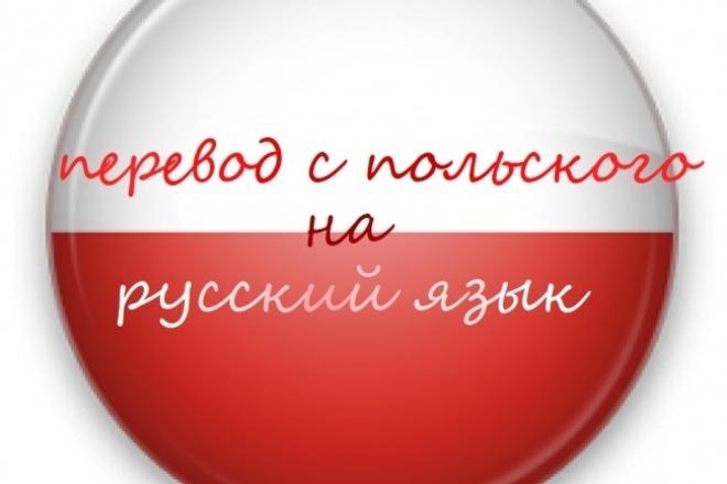 выполню перевод текста с польского языка на русский 1 - kwork.ru