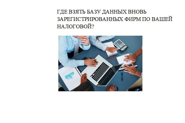 Список новых предприятий по любой налоговой 1 - kwork.ru