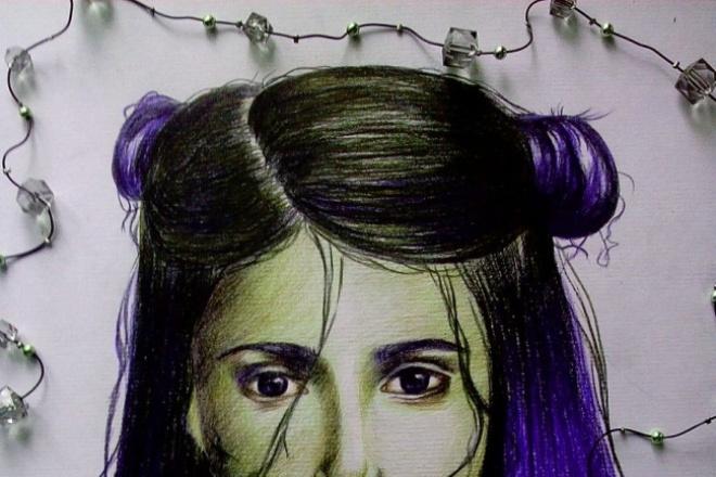 нарисую портрет цветными карвндашами 1 - kwork.ru