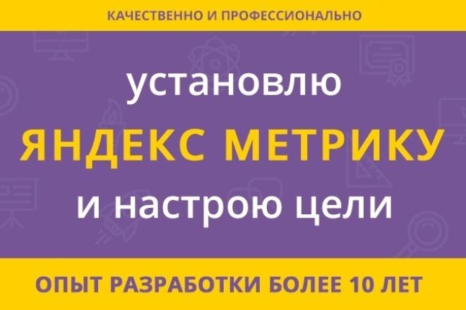 Настрою цели и подключу Яндекс метрику 1 - kwork.ru