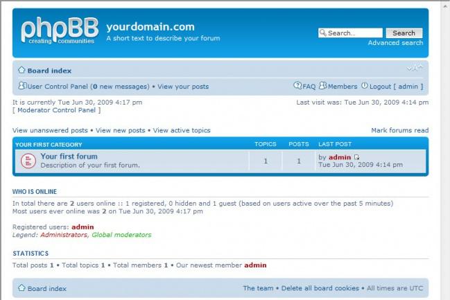Форум на Phpbb под ключСайт под ключ<br>- заказ хостинга и домена; - установка движкаPhpbb; - настройка Phpbb; - установка стиля, необходимых плагинов; - создание категорий;<br>