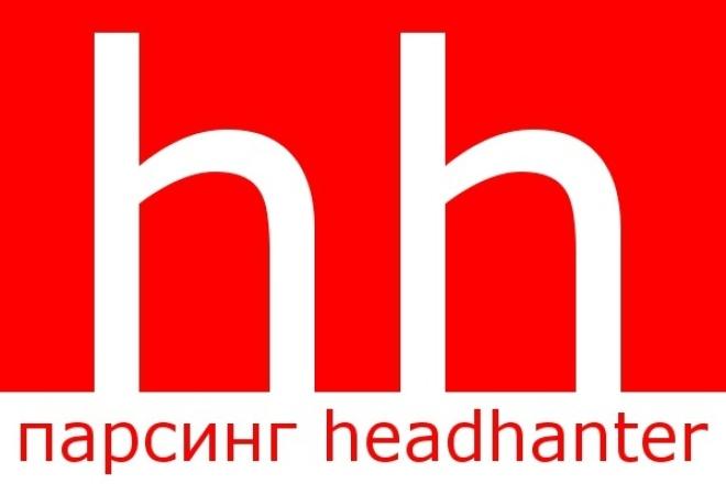 Соберу данные резюме с HH.ruИнформационные базы<br>Соберу все данные в открытом доступе со страниц резюме сайта hh.ru Результат в виде таблички эксель. Если вам необходим сбор данных белее чем по 500 резюме, оформите дополнительно кратное количество кворков.<br>