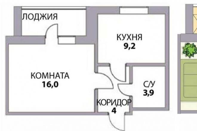 Перепланировка помещенияМебель и дизайн интерьера<br>Перепланировка помещения по плану БТИ или обмерочному чертежу. Делаю перепланировку, расстановку мебели в 4 вариантах.<br>