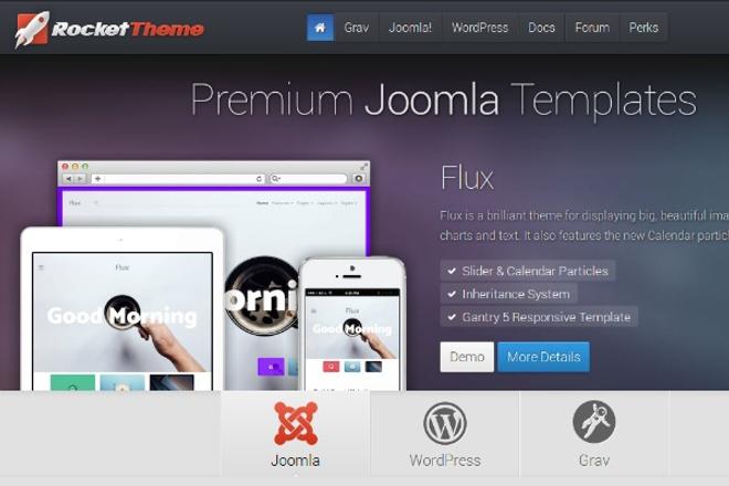 5 любых Joomla шаблонов RocketTheme 1 - kwork.ru