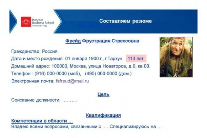 Составлю  резюме профессионально для поиска работы 1 - kwork.ru