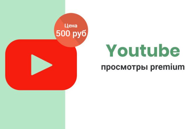 Ютуб просмотры premium - 2000 1 - kwork.ru