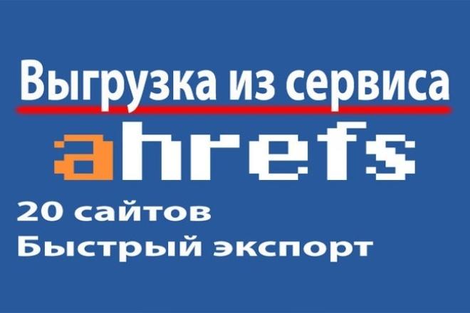 Выгрузка из Ahrefs, Отчеты для 20 сайтов 1 - kwork.ru