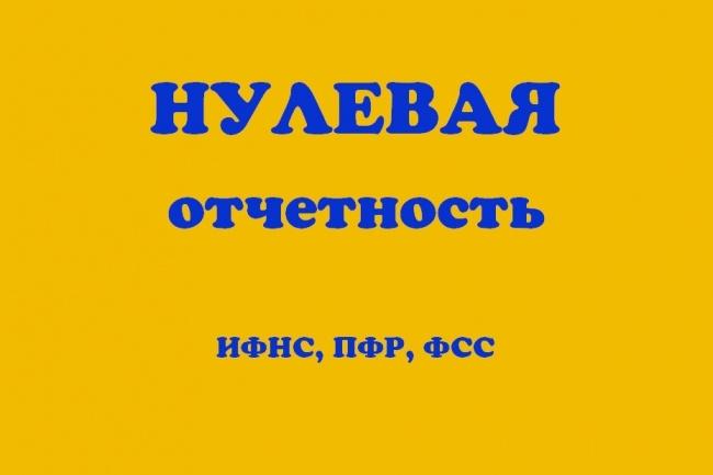 Подготовка нулевой отчётности для любой системы налогообложения 1 - kwork.ru
