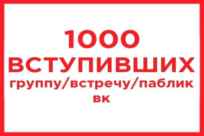 вступившие в группу/встречу/паблик 1 - kwork.ru