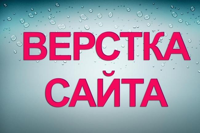 Напишу сайт с нуля на HTML, CSS, или сверстаю Ваш макет . psd 1 - kwork.ru