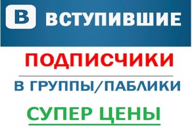 3000 вступивших в группу вконтакте 1 - kwork.ru