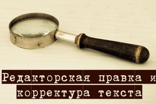 Профессиональная корректура и редактирование любых текстов 1 - kwork.ru