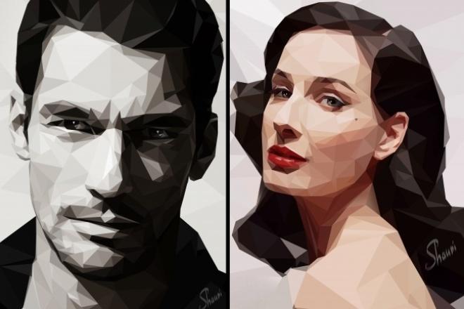 сделаю портрет в стиле Low Poly 1 - kwork.ru