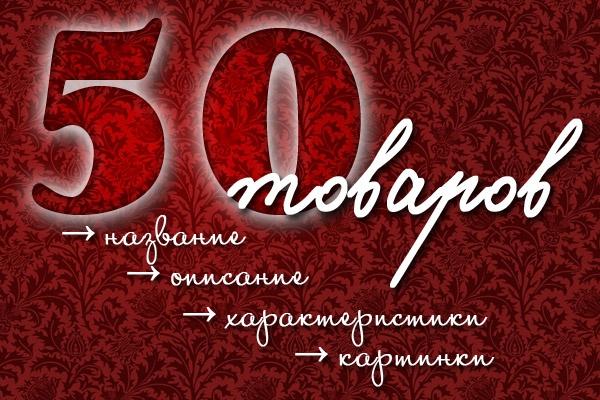 наполню 50 товарами интернет-магазин 1 - kwork.ru