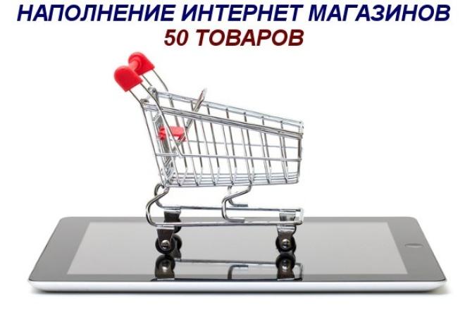 Наполню интернет-магазин (50 товаров) 1 - kwork.ru
