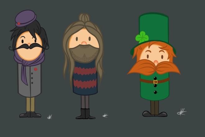 Нарисую персонажей в одном стиле 1 - kwork.ru