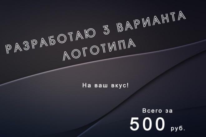 разработаю три варианта логотипа по вашему желанию 1 - kwork.ru
