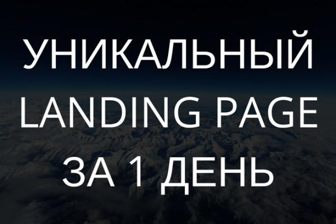 уникальный Landing Page 1 - kwork.ru