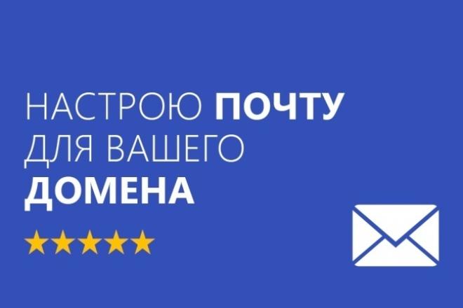 Настрою электронную почту для Вашего домена 1 - kwork.ru