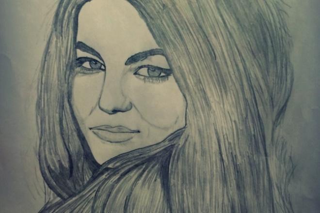 Портрет по фото карандашом 1 - kwork.ru