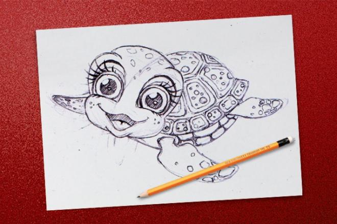 Сделаю карандашный набросокИллюстрации и рисунки<br>Если вы не уверены как должен выглядеть ваш персонаж или вам нужно собрать воедино ваши идеи, то я могу вам с этим помочь. Я сделаю эскиз карандашом на листе, вашей будущей иллюстрации или персонажа, и от сканирую. Предложу несколько вариантов персонажа или сделаю один детальный эскиз иллюстрации, также могу доработать ваш эскиз.<br>