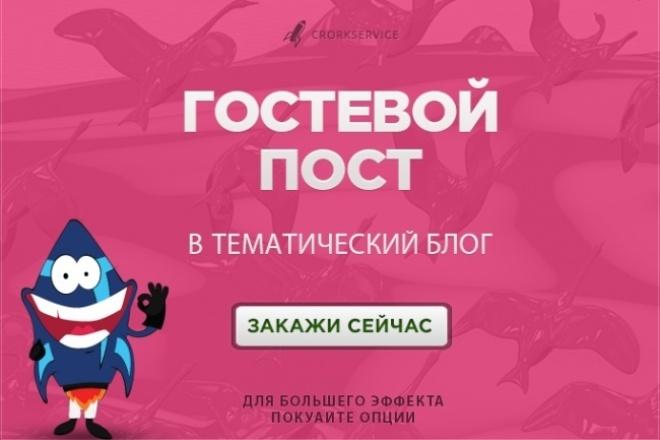 Гостевой пост в тематический блог 1 - kwork.ru