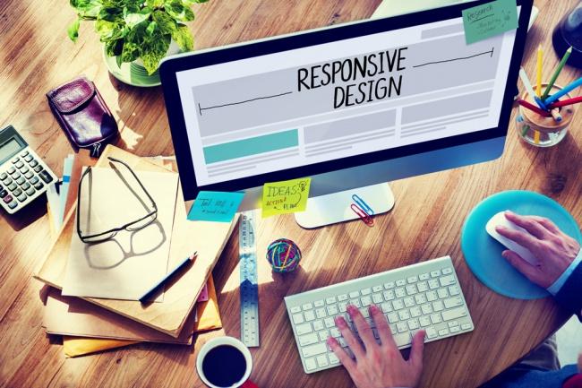 Дизайн первого экрана Landing Page - одностраничного сайта 1 - kwork.ru