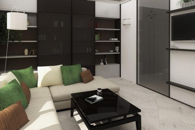 Сделаю 3D визуализацию интерьера 1 - kwork.ru