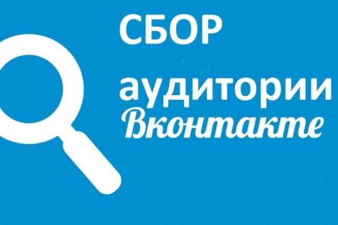 Соберу целевую аудиторию по Вконтакте 1 - kwork.ru