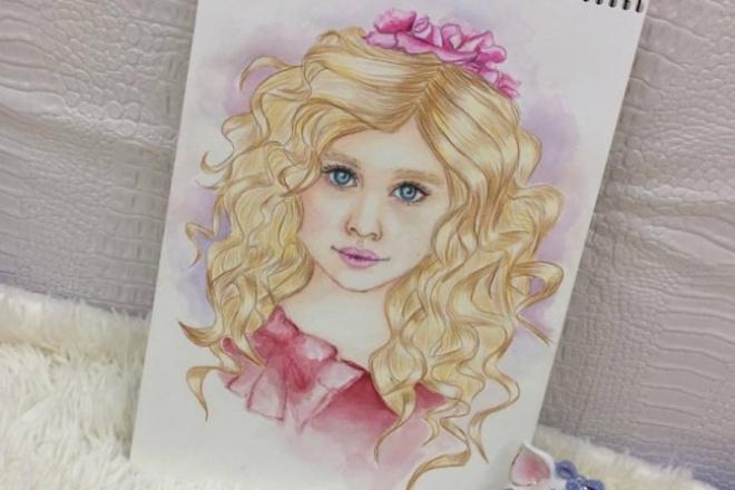 Нарисую детский скетч портрет 1 - kwork.ru