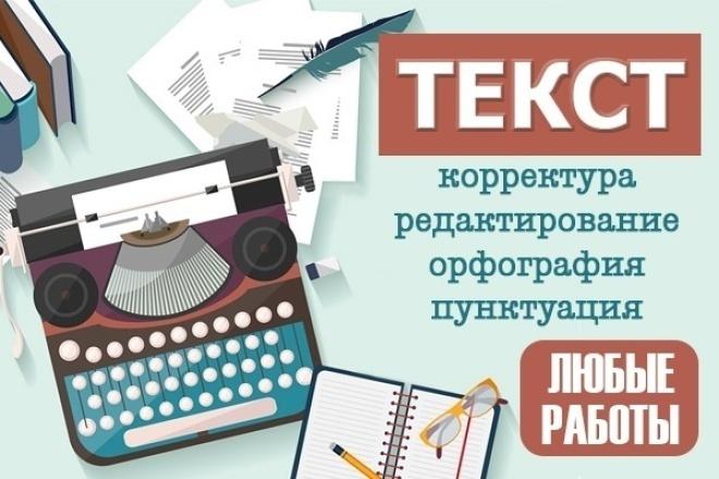Корректура и редактирование текстов любой сложности и тематики 1 - kwork.ru