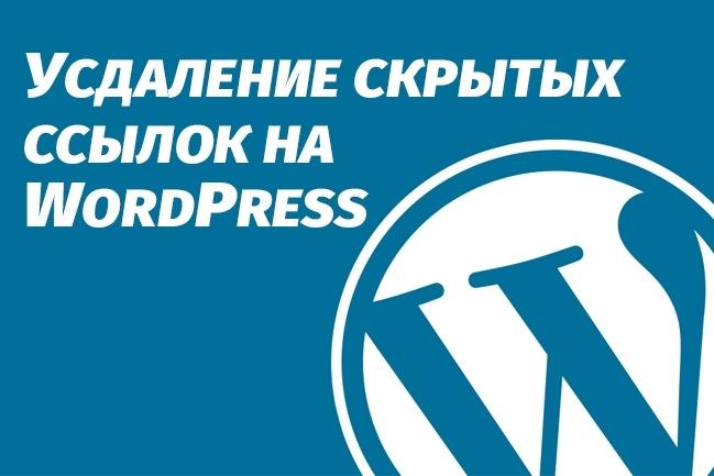 Удалю скрытые внешние ссылки из шаблона Wordpress 1 - kwork.ru
