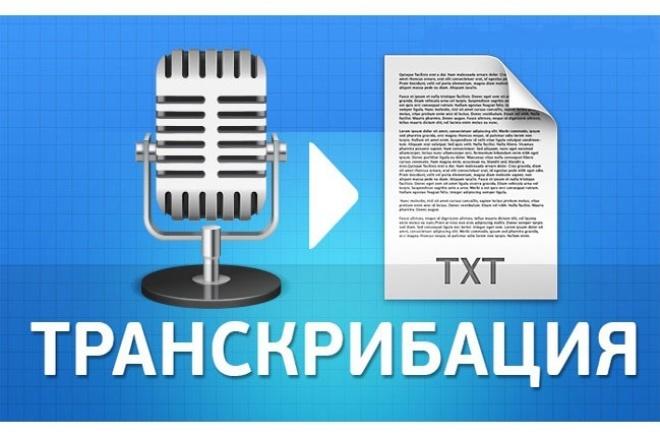 транскрибация. Перевод аудио в текст 1 - kwork.ru