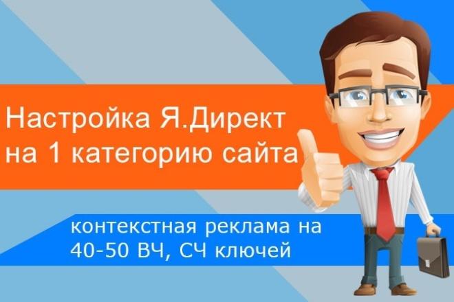 Настройка Яндекс.Директ на 1 категорию магазина на поиске 1 - kwork.ru