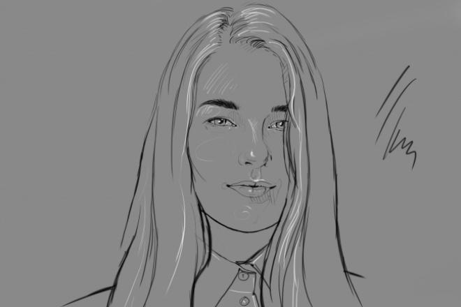 нарисую 2 портрета по фото 1 - kwork.ru