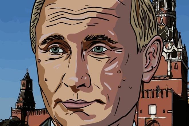 нарисую графический портрет 1 - kwork.ru