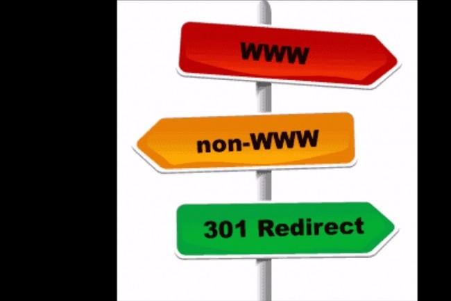 Переадресация. Перенаправления домена 301 редирект 1 - kwork.ru