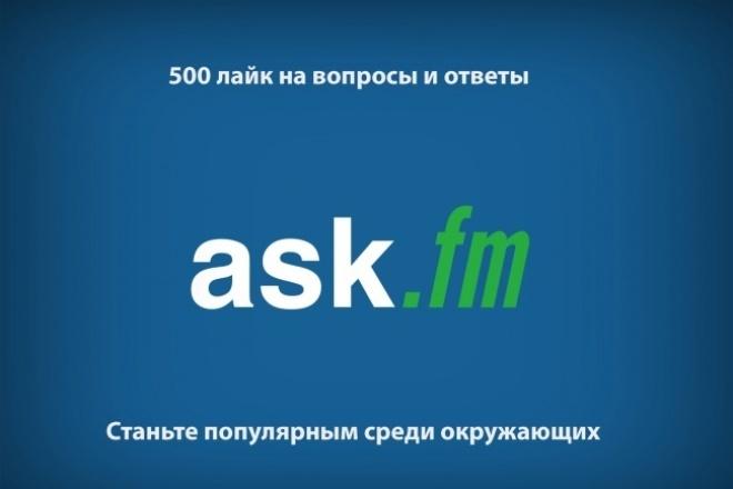 Лайки на вопросы и ответы  Ask.Fm 1 - kwork.ru