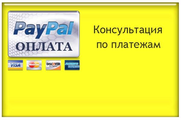 Проведу консультацию по вопросам оплаты с помощью сервиса paypal.com 1 - kwork.ru
