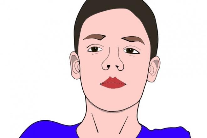 Нарисую ваше фото в стиле комикса 1 - kwork.ru