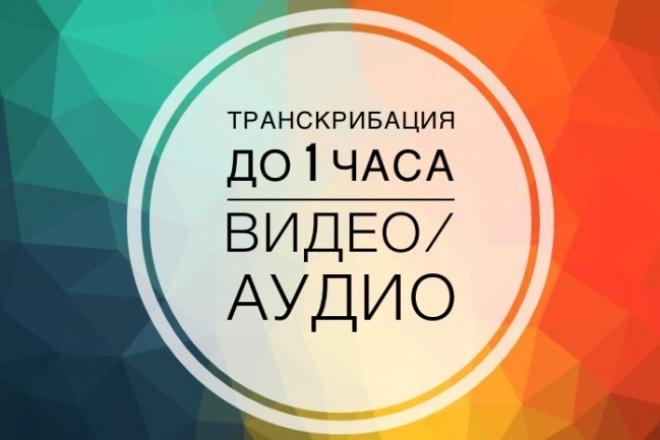 Транскрибация текста из аудио или видео 1 - kwork.ru